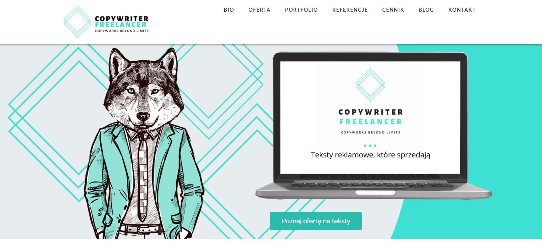 Landing Page dla Copywriter Freelancer