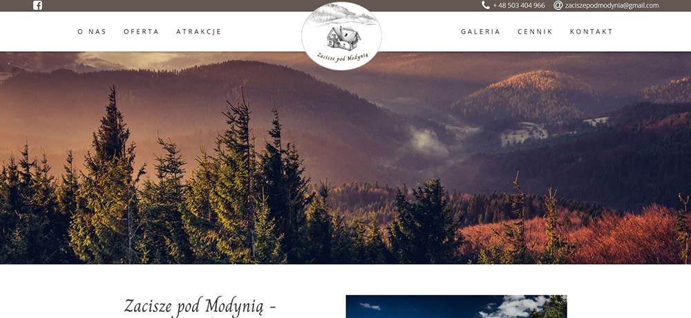 Zacisze pod Modynią - strona internetowa